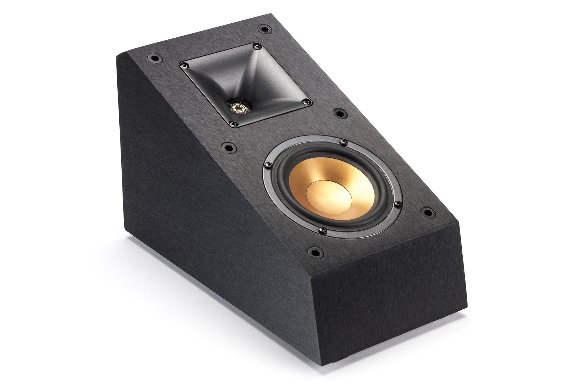 klipsch surround sound speakers. while the klipsch r-14sa elevation speakers can add dolby atmos to existing or be used as a standard side surround sound speaker.